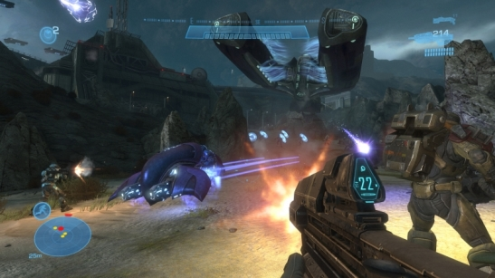 Un'immagine tratta dal videogame Halo