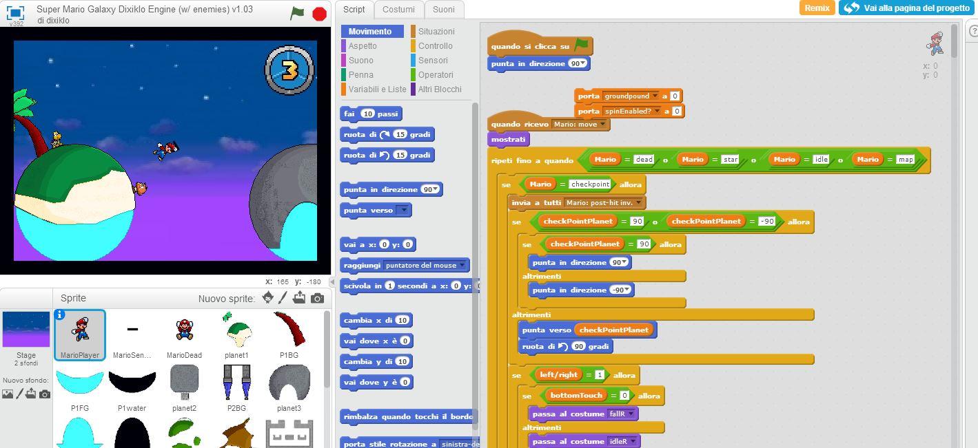 Scratch imparare programmando laboratorio di tecnologie for Progetto online