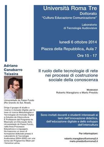 Locandina_Seminario_Adriano_Teixeira_06-10-2014